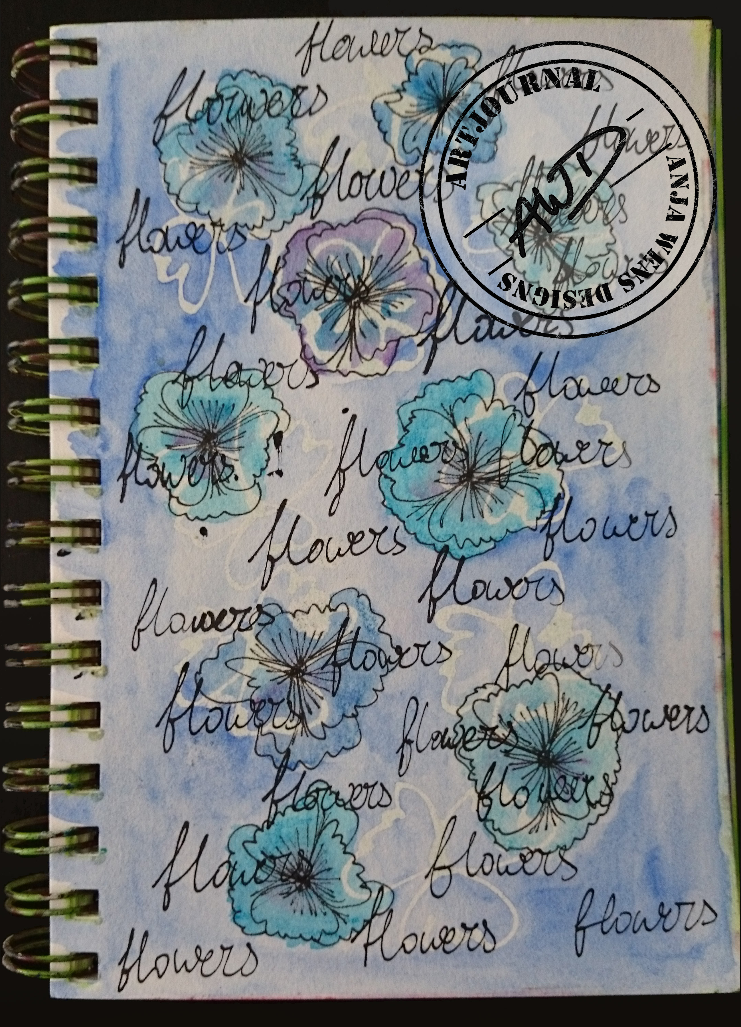 Artjournal Flowers by Anja Wens Designs