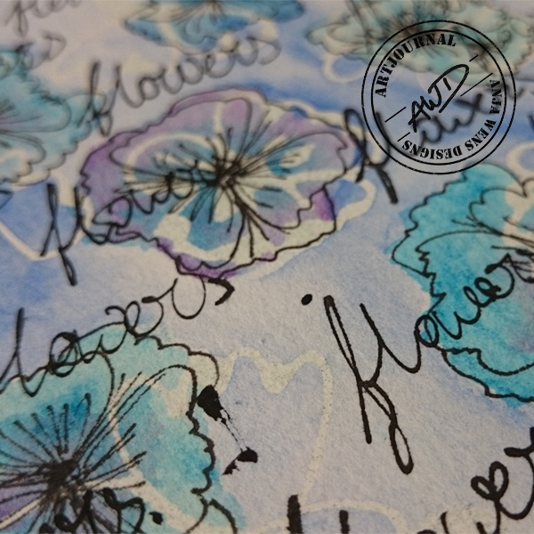 Artjournal Flowers by Anja Wens Designs | detail01