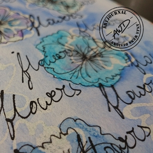 Artjournal Flowers by Anja Wens Designs | detail02