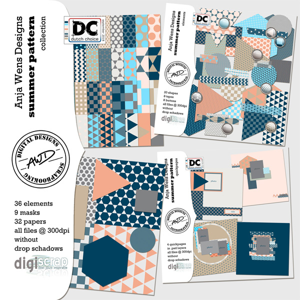 Summer Pattern | Collection | AWD | available @ digiscrap.nl
