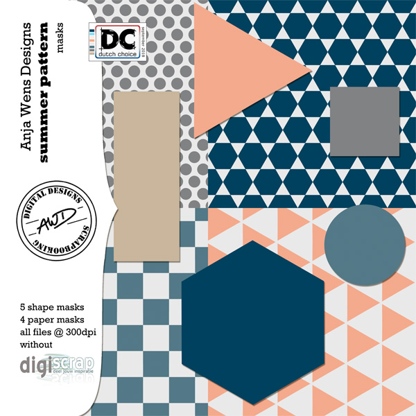 Summer Pattern | Masks | AWD | available @ digiscrap.nl