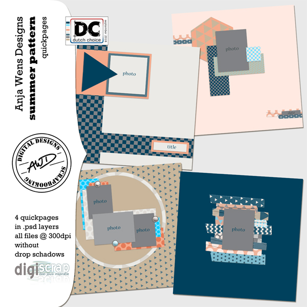 Summer Pattern | Quickpages | AWD | available @ digiscrap.nl